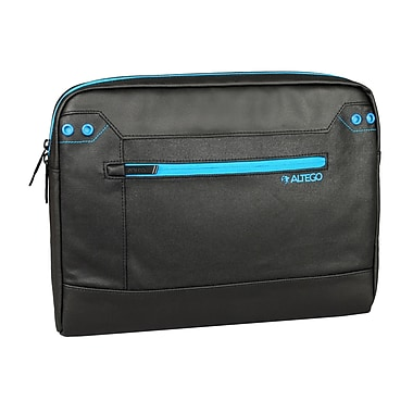 Samsill® Altego™ Coated Canvas Cyan Sleeve For 15in. Notebook, Black