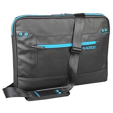 Samsill® Altego™ Coated Canvas Cyan Slipcase For 15in. Notebook, Black