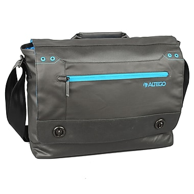 Samsill® Altego™ Coated Canvas Cyan Series Messenger Bag For 15in. MacBooks, Black