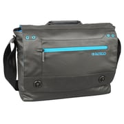 Samsill® Altego™ Coated Canvas Cyan Series Messenger Bag For 15 MacBooks, Black