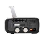 Eton Solar Dynamo Powered AM/FM/NOAA Weather Radio, Black