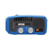 Eton Solar Dynamo Powered AM/FM/NOAA Weather Radio, Blue