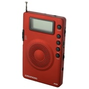 Eton Grundig Mini 400 Compact AM/FM Shortwave Radio, Red