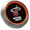 On The Edge Marketing NBA 15'' Neon Wall Clock; Miami Heat