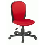 Chintaly Mid-Back Youth Desk Chair; Red