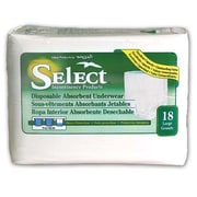 Select Disposable Absorbent Underwear; Large