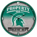 Wincraft Collegiate 18'' NCAA High Def Wall Clock; Michigan State