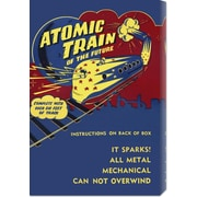 Global Gallery 'Atomic Train of the Future' by Retrotrans Vintage Advertisement on Canvas