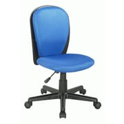 Chintaly Mid-Back Youth Desk Chair; Blue