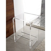 Toscanaluce by Nameeks Trasparenze Stool; Transparent