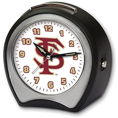 Cottage Garden Collegiate Alarm Table Clock; Florida State University