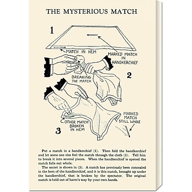 Global Gallery 'The Mysterious Match' by Retromagic Vintage Advertisement on Wrapped Canvas