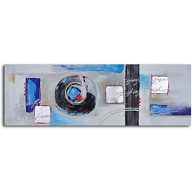 My Art Outlet 'Spinning through Blocks' Original Painting on Wrapped Canvas