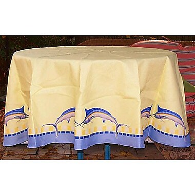 Betsy Drake Interiors Marlin Tablecloth; 58'' W Round