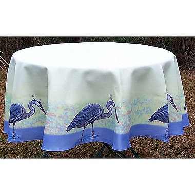 Betsy Drake Interiors Heron Tablecloth; 68'' W Round