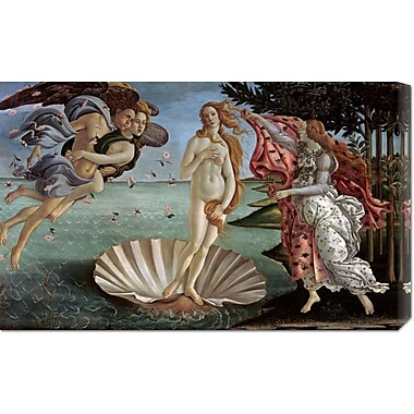 Global Gallery 'The Birth of Venus' by Sandro Botticelli Painting Print on Wrapped Canvas
