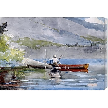 Global Gallery 'The Red Canoe' by Winslow Homer Painting Print on Wrapped Canvas