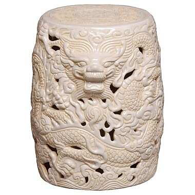 Emissary Dragon Garden Stool