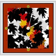 Green Leaf Art Fall 11'' Art Wall Clock