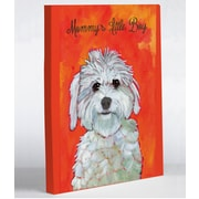One Bella Casa Doggy Decor Mommy's Little Boy Graphic Art on Canvas; 8'' x 10''