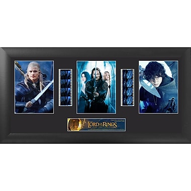 Trend Setters Lord of the Rings: 2 Towers Trio FilmCell Presentation Framed Vintage Advertisement