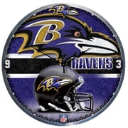 Wincraft NFL 18'' High Def Wall Clock; Baltimore Ravens