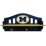 Fan Creations NCAA Coat Rack with Shelf; Michigan