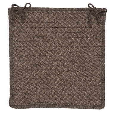 Colonial Mills Natural Wool Houndstooth Dining Chair Cushion (Set of 4); Cocoa