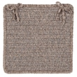 Colonial Mills Texture Woven Chair Pad (Set of 4); Rich Brown