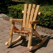 Moon Valley Rustic Nicholas Collection Child's Rocking Chair; Amber Varnish