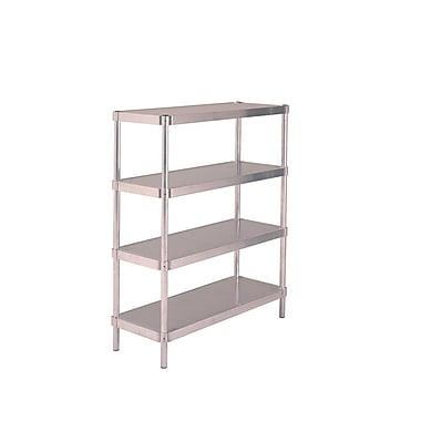 PVIFS Complete 4 Shelf Shelving Unit Starter; 72'' H x 36'' W x 20'' D