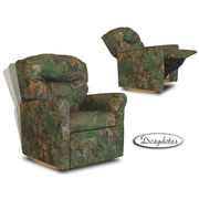 Dozy Dotes Contemporary Rocker Kid's Recliner; Fabric - Camouflage Green with True Timber