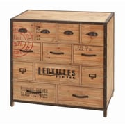 Woodland Imports Iron Wood Metal 12 Drawer Chest