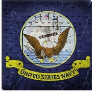 iCanvas Flags Navy Metal Rivet with Lomo Film Graphic Art on Canvas; 12'' H x 12'' W x 0.75'' D
