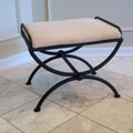 International Caravan Cambridge Contemporary Iron Vanity Stool; Java