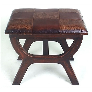 International Caravan Stool with Wood Leg; Mix