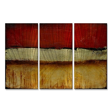 All My Walls 'Shanghai Red' by Erin Ashley 3 Piece Graphic Art Plaque Set