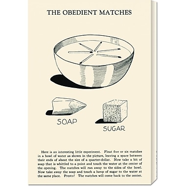 Global Gallery 'The Obedient Matches' by Retromagic Vintage Advertisement on Wrapped Canvas