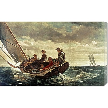 Global Gallery 'Breezing Up' by Winslow Homer Painting Print on Wrapped Canvas