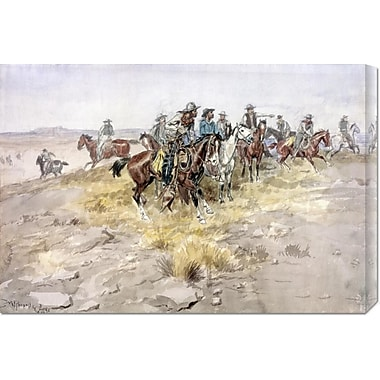 Global Gallery 'Cowboys' by Charles M. Russell Painting Print on Wrapped Canvas