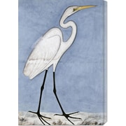 Global Gallery 'Great Egret' by Lucknow School Painting Print on Canvas