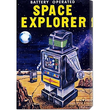 Global Gallery 'Space Explorer' by Retrobot Vintage Advertisement on Wrapped Canvas