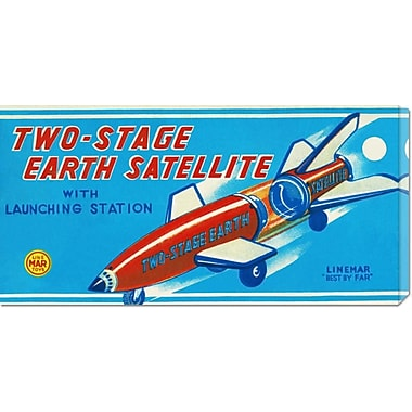 Global Gallery 'Two-Stage Earth Satellite' by Retrorocket Vintage Advertisement on Wrapped Canvas