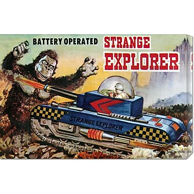 Global Gallery 'Strange Explorer' by Retrotrans Vintage Advertisement on Wrapped Canvas