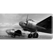 Global Gallery 'Airplanes Lineup, 1936' by Gordon S. Williams Photographic Print on Canvas