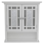 Elegant Home Fashions Windsor Wall Cabinet with 2 Doors and 1 Shelf; White