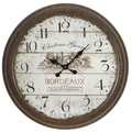 Aspire Oversized 28'' Bordeaux Vintage Style Wall Clock