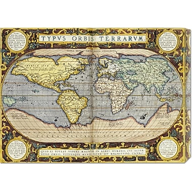 Global Gallery 'Theatrum Orbis Terrarum' by Abraham Ortelius Graphic Art on Wrapped Canvas