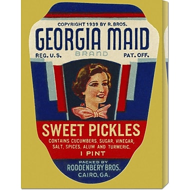 Global Gallery 'Georgia Maid Sweet Pickles' by Retrolabel Vintage Advertisement on Wrapped Canvas