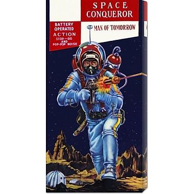 Global Gallery 'Space Conqueror' by Retrobot Vintage Advertisement on Wrapped Canvas